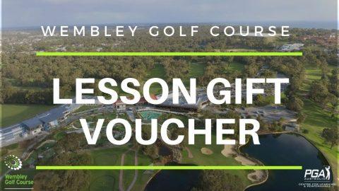 golf lesson gift voucher